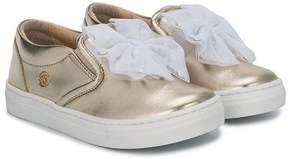 Miss Blumarine chiffon bow sneakers