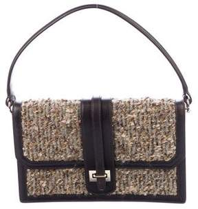 Oscar de la Renta Leather-Trimmed Bouclé Bag