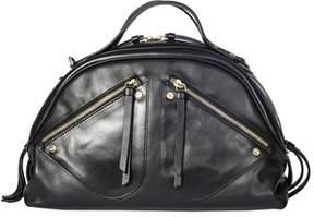 Borbonese Women's Black Leather Handbag.