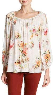 Velvet by Graham & Spencer Vivien Floral Cold Shoulder Blouse