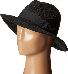 San Diego Hat Company CTH4117 Woven Yarn Stitch Fedora with Grosgrain Bow Fedora Hats