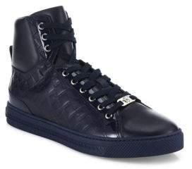 Versace Grecca Embossed High-Top Sneakers