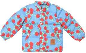 Mini Rodini Roses Waterproof Nylon Puffer Jacket