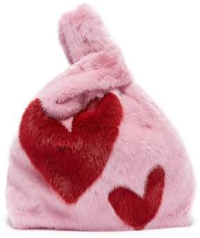 Simonetta Ravizza 'Furrissima' heart print mink fur sac bag