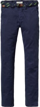 Scotch & Soda Belted Garment Dyed Chinos | Regular Slim Fit