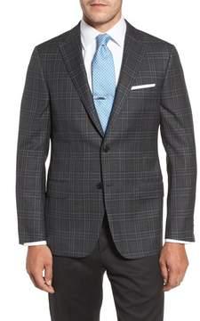 Hickey Freeman Men's Classic B Fit Plaid Wool Sport Coat