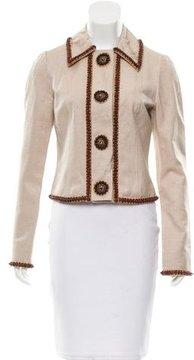 Andrew Gn Embellished Silk Jacket