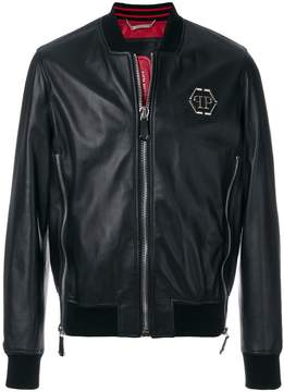 Philipp Plein zip detailed bomber jacket