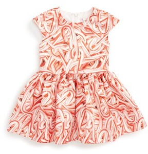 Halabaloo Infant Girl's Candy Cane Print Dress