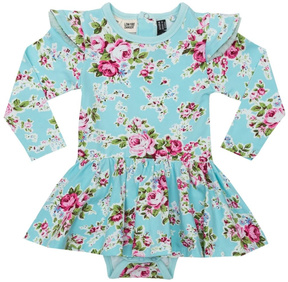 Rock Your Baby Blue Floral Dress