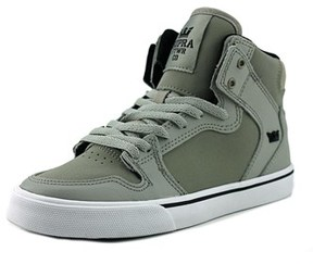 Supra Kids Vaider Round Toe Leather Skate Shoe.
