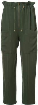 Apiece Apart zip front drawstring trousers