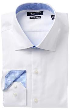Tailorbyrd Trim Fit Textured Solid Dress Shirt
