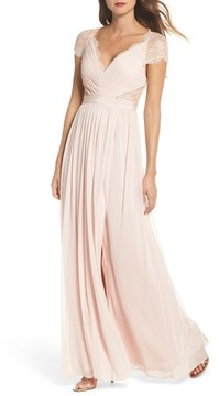 Adrianna Papell Women's Lace & Tulle Gown