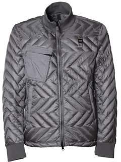 Blauer Men's Grey Polyamide Down Jacket.