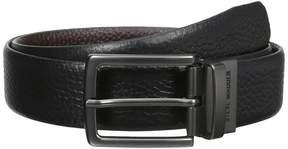 Steve Madden 35mm Pebble Leather Reversible Belt Men's Belts