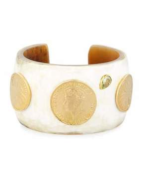 Ashley Pittman Mpenzi Light Horn, Coin & Crystal Cuff