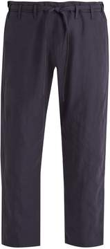 Paul Smith Tie-waist wide-leg linen cropped trousers