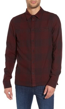 NATIVE YOUTH Men's Chalgrove Buffalo Plaid Flannel Sport Shirt