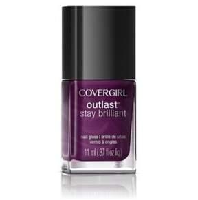 Cover Girl Outlast Stay Brilliant Nail Gloss Nail Polish, 45, Fuchsia Flame.