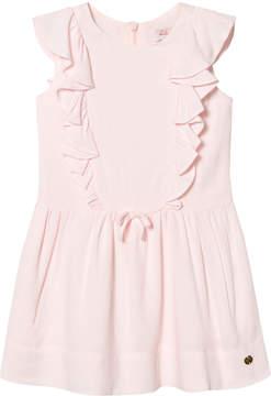 Lili Gaufrette Pale Pink Frill Front Dress