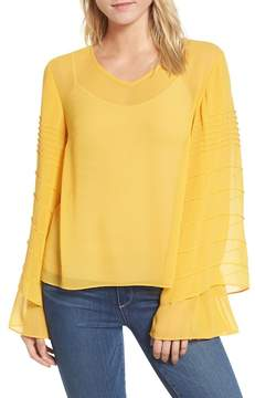 Chelsea28 Pintuck Double Sleeve Chiffon Blouse