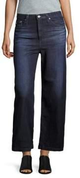 AG Adriano Goldschmied Wide-Legged High-Rise Denim Jeans