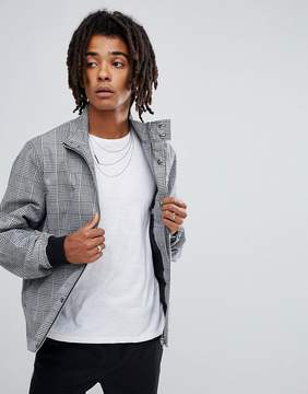 Asos Harrington Jacket Co-Ord In Black and White Check