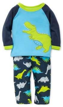 Little Me Little Boys Dino Printed Pajamas