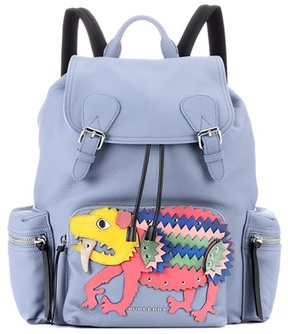Burberry The Large leather backpack - BLUE - STYLE