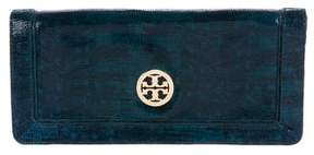 Tory Burch Embossed Logo Clutch - ANIMAL PRINT - STYLE