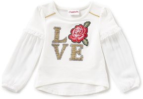 Flapdoodles Little Girls 2T-6X Love Long-Sleeve Tee