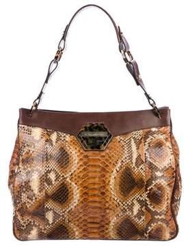Oscar de la Renta Python Shoulder Bag