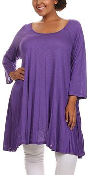 Canari Purple Sidetail Tunic - Plus