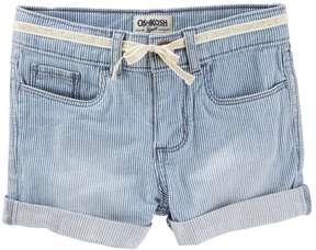 Osh Kosh Toddler Girl Hickory Stripe Cuffed Shorts