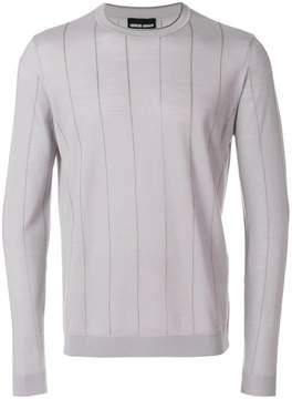 Giorgio Armani striped design fitted sweater