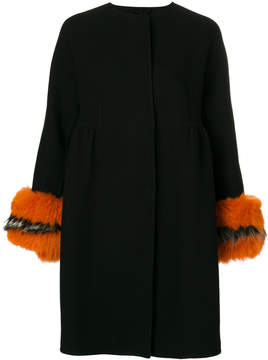 Ermanno Scervino fur trim coat
