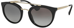 Prada Round Brow-Bar Sunglasses