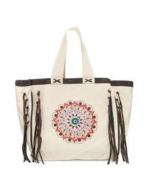 Ale by Alessandra Mandala Beach Tote Bag, Beige