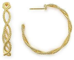 Roberto Coin 18K Yellow Gold New Barocco Braided Hoop Earrings