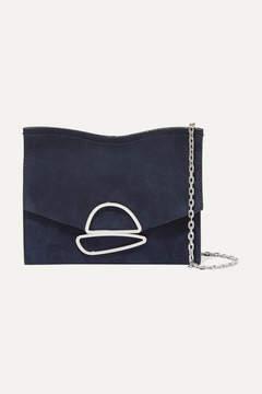 Proenza Schouler Curl Small Embellished Suede Shoulder Bag - Indigo