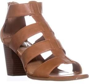 Style&Co. Sc35 Janinaa Gladiator Rear Zip Sandals, Coffee.