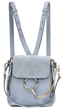 Chloé Faye leather and suede backpack