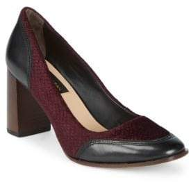 Donna Karan Shelby Leather and Textile Pumps