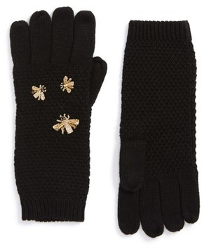 BCBGMAXAZRIA Women's The Bees Knees Embellished Gloves