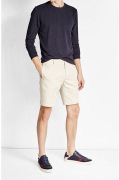 Calvin Klein Collection Cotton-Linen Shorts