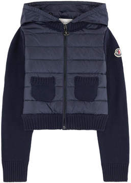 Moncler Bi-material cardigan