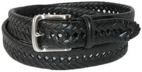 Tommy Hilfiger Men's Burnished Handlaced 1 1/4 Inch Belt, 42, Black