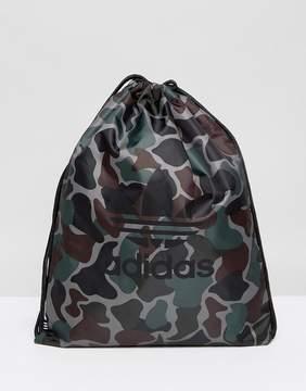 adidas Drawstring Bag In Camo BQ6102