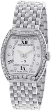 Bedat & Co No 3 Diamond Dial & Bezel Stainless Steel Womens Watch